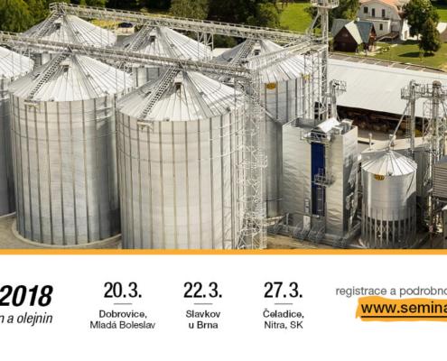 Březnové SEMINÁŘE 2018 - Udržitelná kvalita obilnin a olejnin
