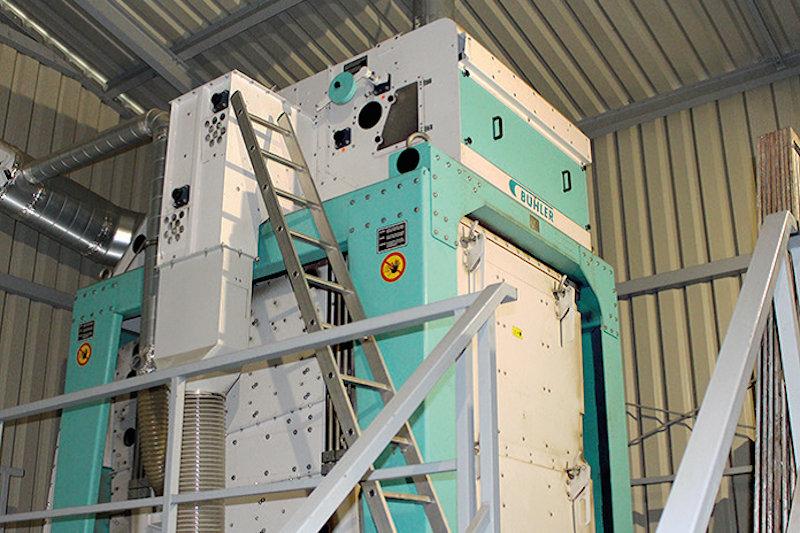 Součástí linky je čistička obilí Bühler typ TAS 154A-4.